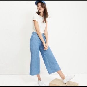 Madewell wide leg lightweight denim pants-pockets.